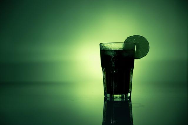 お酒入りグラス