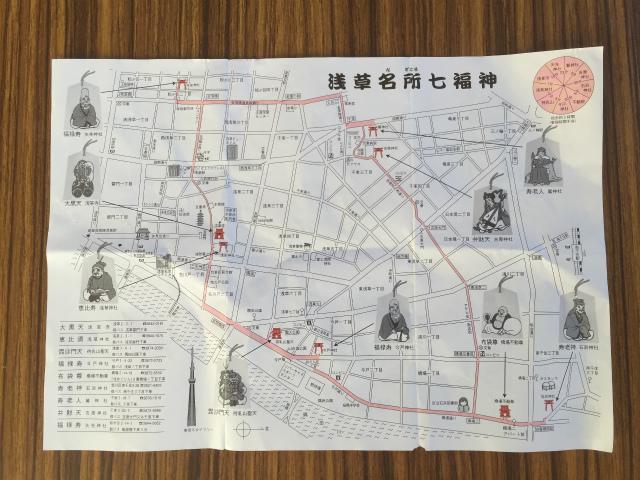 浅草名所七福神地図