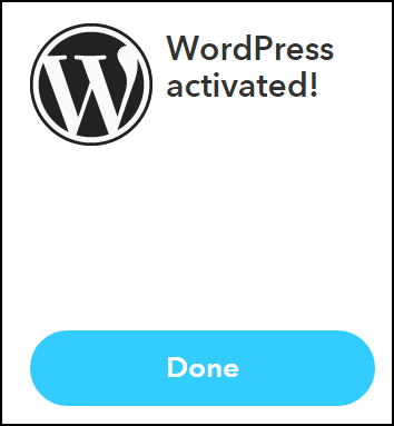 Wordpress Activated