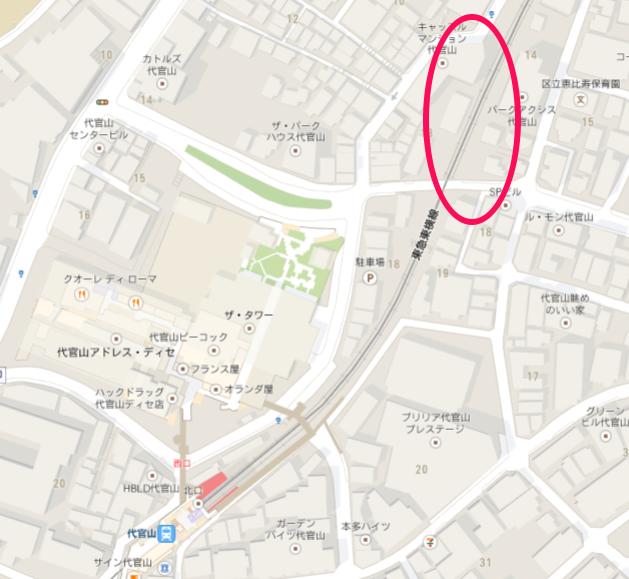 代官山地図