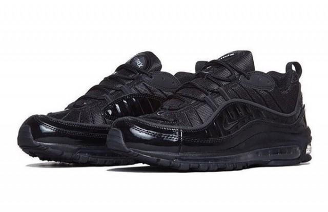 supreme air max 98 black-black